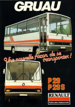autocar RENAULT Grand tourisme N°4939 bis dépliant couleur juillet 1981